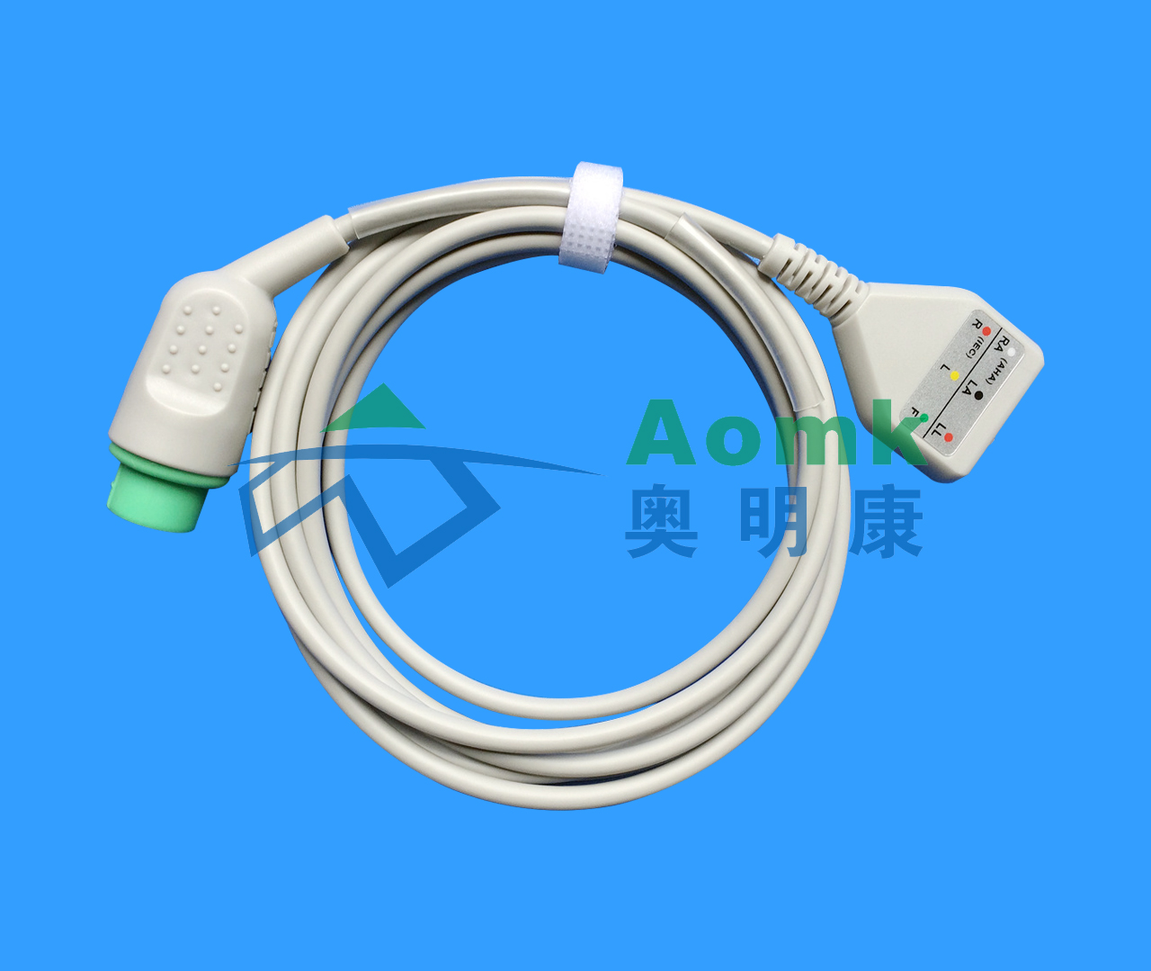 Po Wright round 12PIN three-lead D-type ECG cable (American Standard)