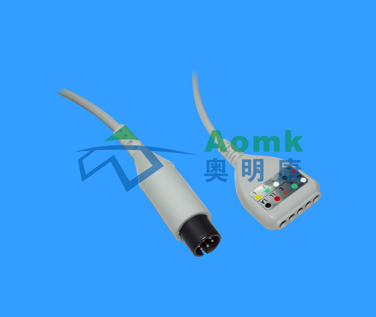 DIN five conductor ECG cable